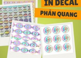 Dịch vụ in tem decal phản quang